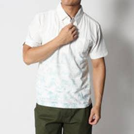 スタイルブロック STYLEBLOCK 梨地ヤシの木グラデーションプリントポロシャツ (ライトグリーン)
