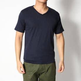 スタイルブロック STYLEBLOCK Vネックカラー半袖Tシャツ (ネイビー)