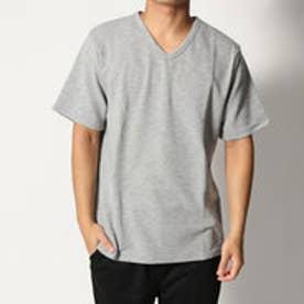 スタイルブロック STYLEBLOCK 吸汗速乾抗菌防臭リップルVネックTシャツ (杢グレー)