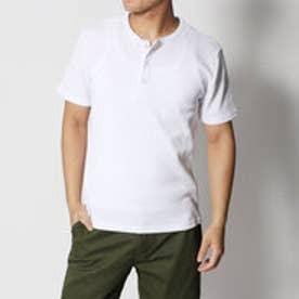 スタイルブロック STYLEBLOCK サーマルワッフルヘンリーネック半袖Tシャツカットソー (ホワイト)
