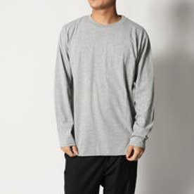 スタイルブロック STYLEBLOCK 消臭加工クルーネックロンTカットソー長袖Tシャツ (グレー)