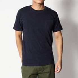スタイルブロック STYLEBLOCK 綿100%クルーネックポケット付半袖Tシャツ (ネイビー)