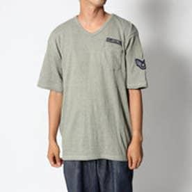スタイルブロック STYLEBLOCK TCワッフルミリタリーポケット&ワッペン付き半袖Tシャツ (グリーン)