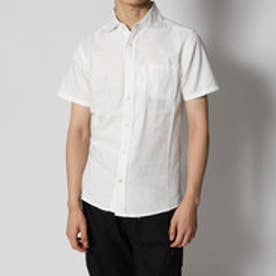 スタイルブロック STYLEBLOCK カモフラージュジャガード半袖シャツ (ホワイト)