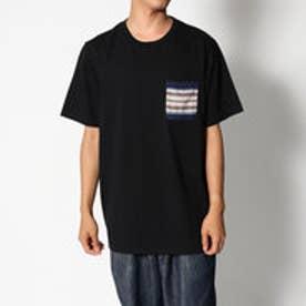 スタイルブロック STYLEBLOCK ニットポケットクルーTシャツ (ブラックA)