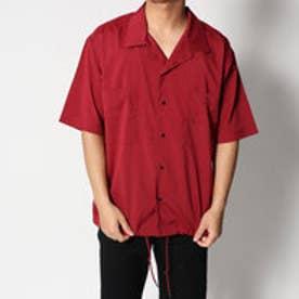 スタイルブロック STYLEBLOCK ドライストレッチ半袖オープンカラーコーチシャツ (レッド)