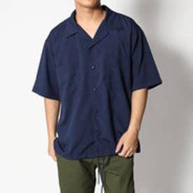 スタイルブロック STYLEBLOCK ドライストレッチ半袖オープンカラーコーチシャツ (ネイビー)