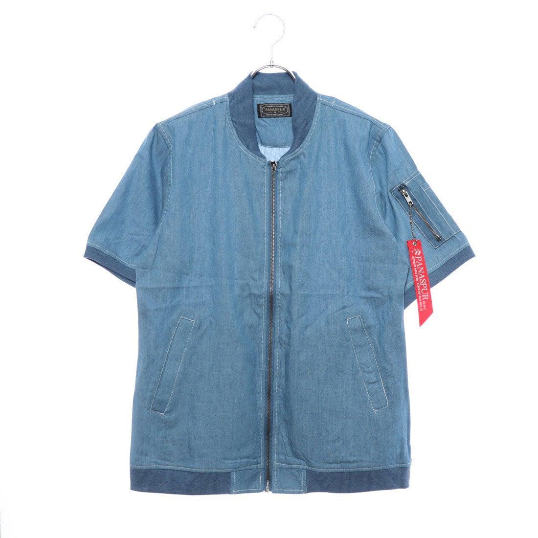 ロコンド 靴とファッションの通販サイトスタイルブロック STYLEBLOCK 4.5OZデニムシャツMA-1ミリタリー半袖シャツ (サックス)