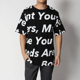 スタイルブロック STYLEBLOCK 綿100%ビッグシルエットビックロゴプリント半袖Tシャツカットソー (ブラック)