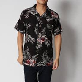 スタイルブロック STYLEBLOCK レーヨン100%半袖アロハシャツ (Aブラック)