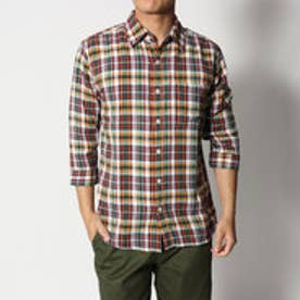 スタイルブロック STYLEBLOCK 7分袖チェックシャツ (グリーン)