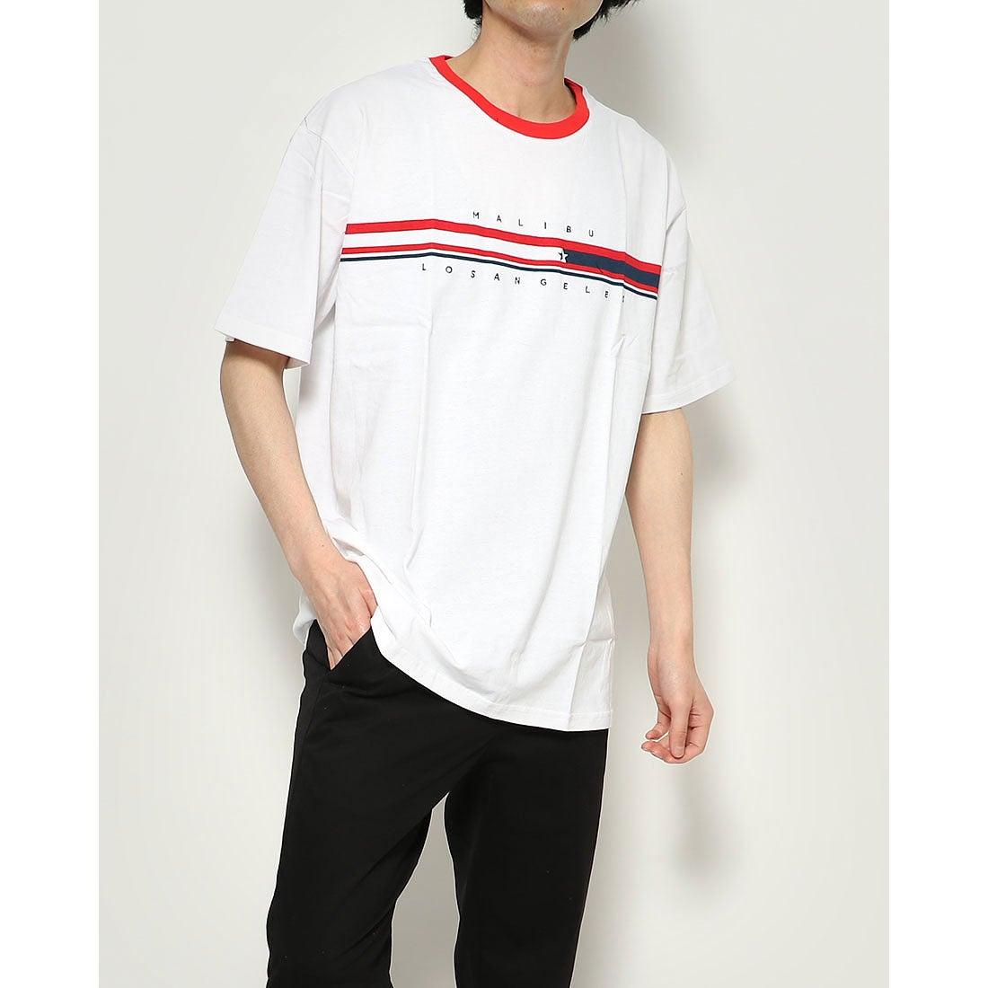 ロコンド 靴とファッションの通販サイトスタイルブロック STYLEBLOCK ビッグシルエットドロップショルダーリンガー襟半袖Tシャツカットソー (レッド)
