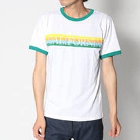 スタイルブロック STYLEBLOCK レインボープリントリンガー半袖Tシャツカットソー (グリーン)