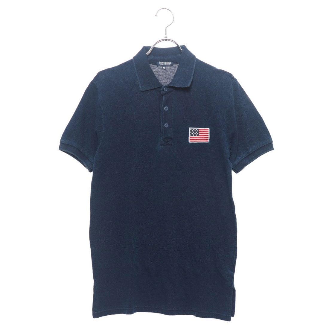 ロコンド 靴とファッションの通販サイトスタイルブロック STYLEBLOCK USA星条旗胸刺繍鹿の子半袖ポロシャツ (ブルー)