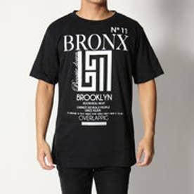 スタイルブロック STYLEBLOCK パロディプリントクルーネック半袖Tシャツカットソー (ブラック)