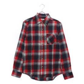 スタイルブロック STYLEBLOCK ビエラチェック長袖シャツネルシャツ (レッド)