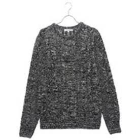 スタイルブロック STYLEBLOCK アクリル総ケーブル編みセーター (杢ブラック)