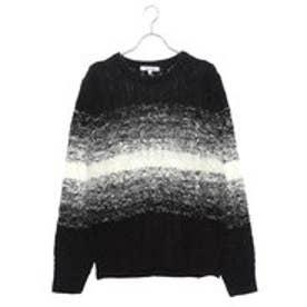 スタイルブロック STYLEBLOCK アクリル総ケーブル編みセーター (ブラック)