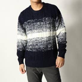 スタイルブロック STYLEBLOCK アクリル総ケーブル編みセーター (ネイビー)