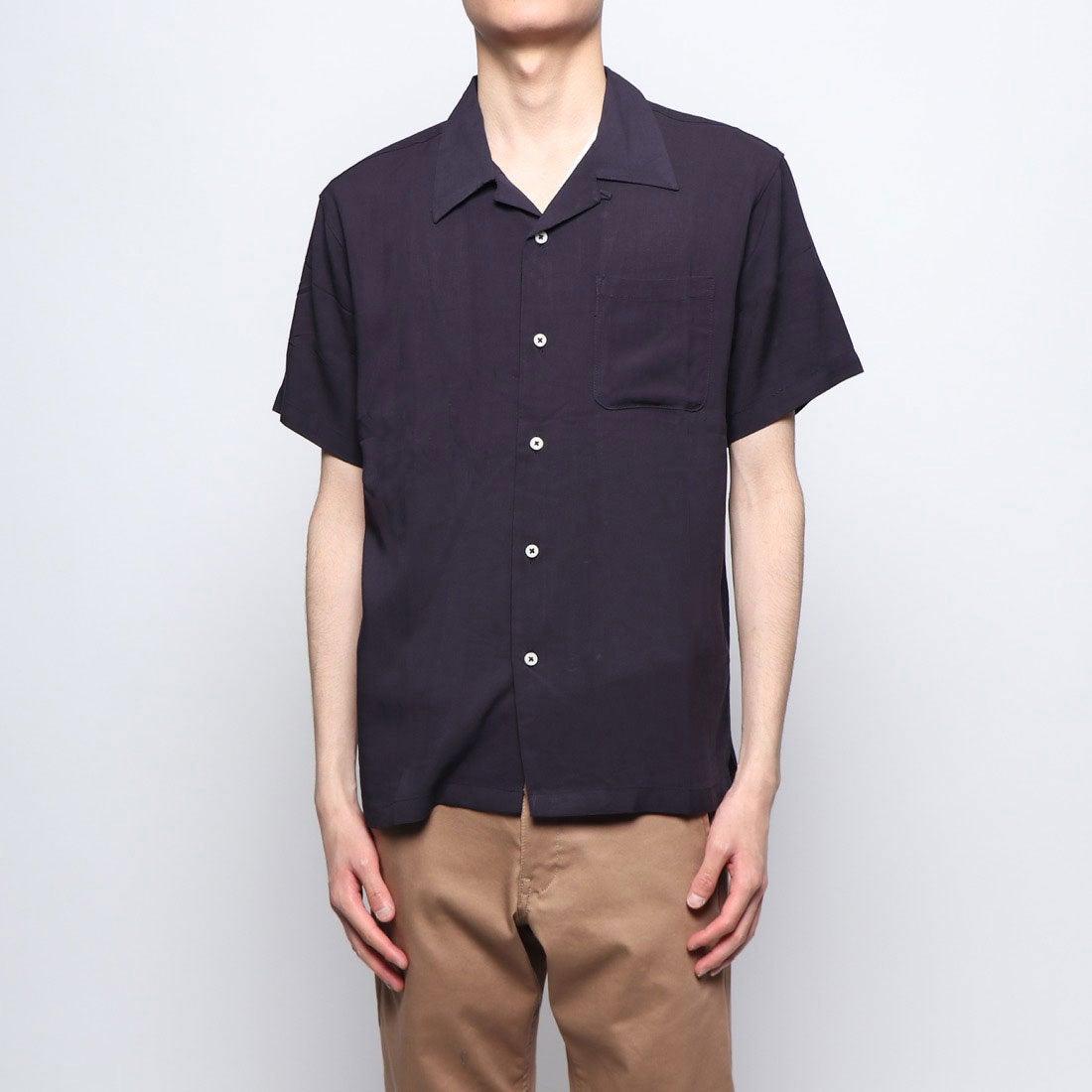 ロコンド 靴とファッションの通販サイトスタイルブロック STYLEBLOCK 無地半袖オープンカラーシャツ (ネイビー)