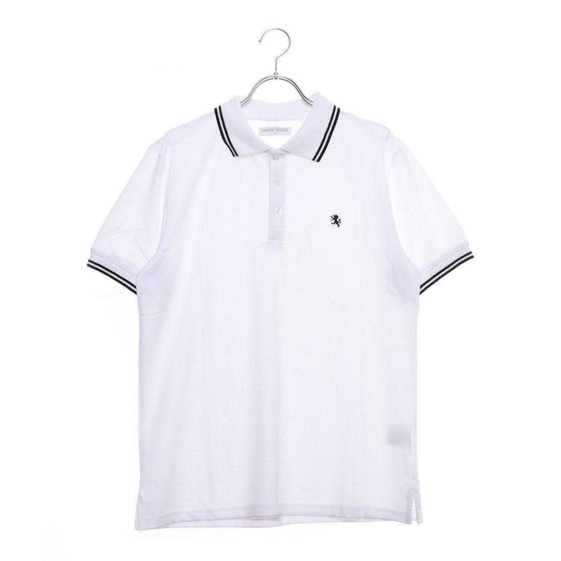 ロコンド 靴とファッションの通販サイトスタイルブロック STYLEBLOCK 刺繍ライン入りドライポロシャツ (ホワイトB)