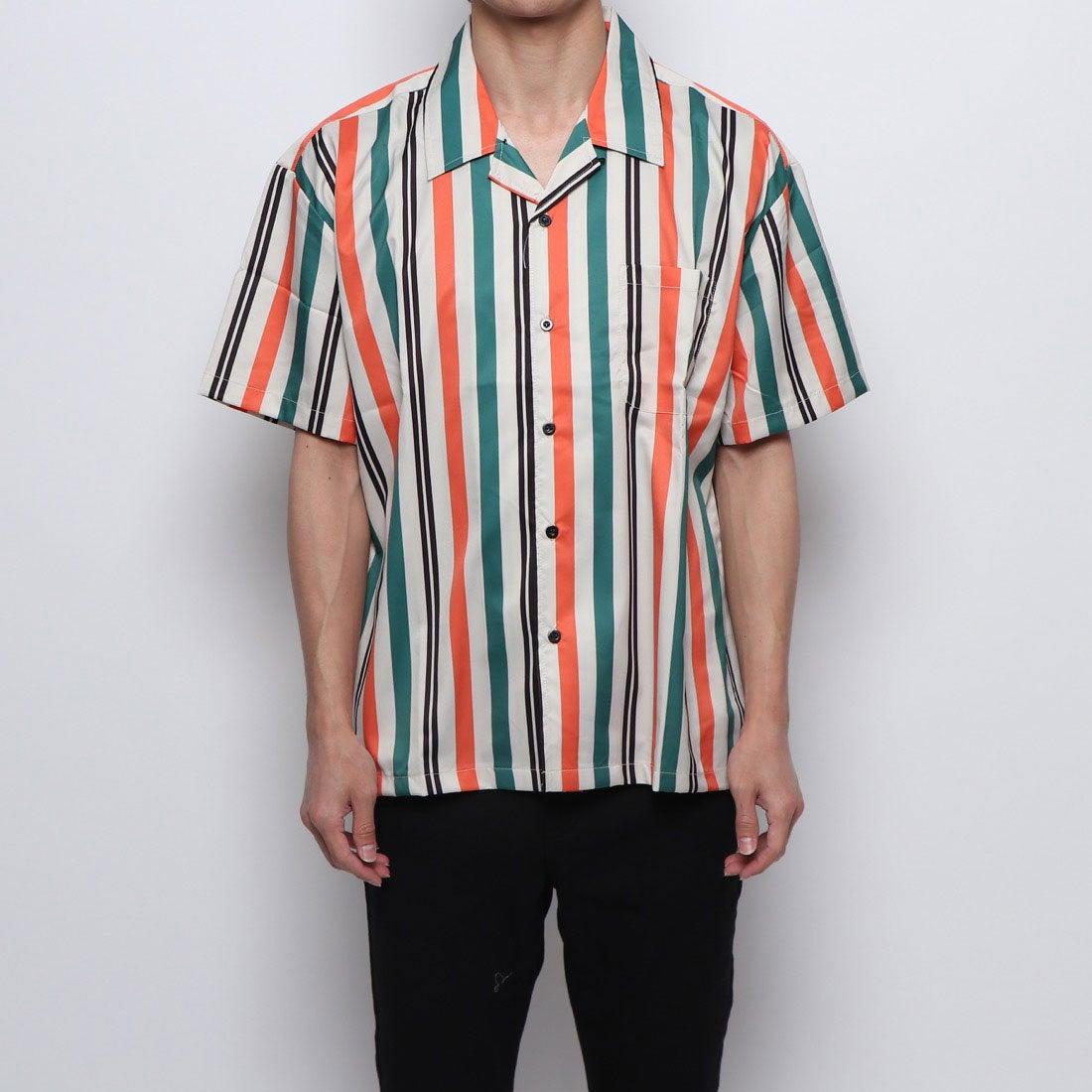 ロコンド 靴とファッションの通販サイトスタイルブロック STYLEBLOCK 総柄オープンカラーシャツ (グリーン)