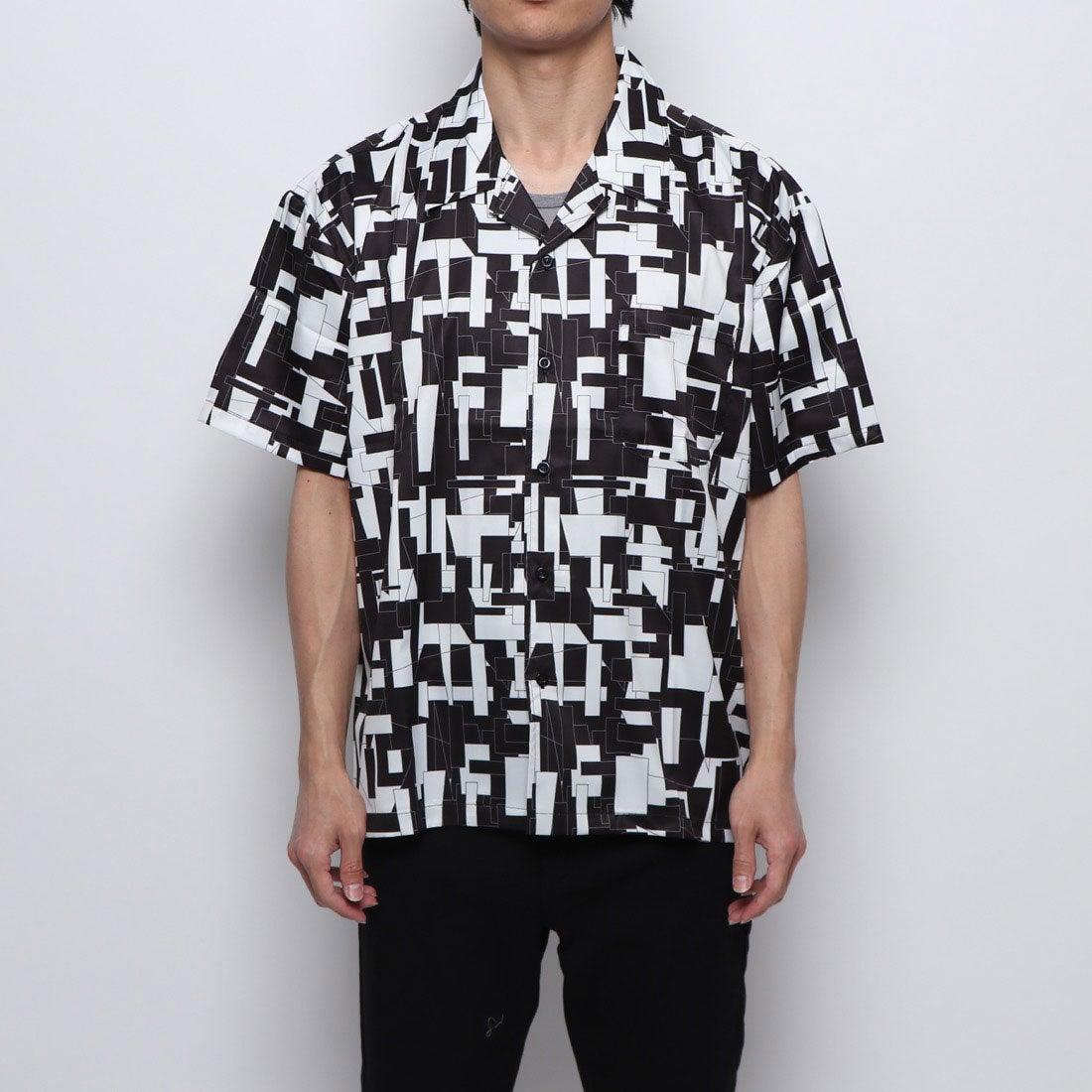 ロコンド 靴とファッションの通販サイトスタイルブロック STYLEBLOCK 総柄オープンカラーシャツ (ホワイト)