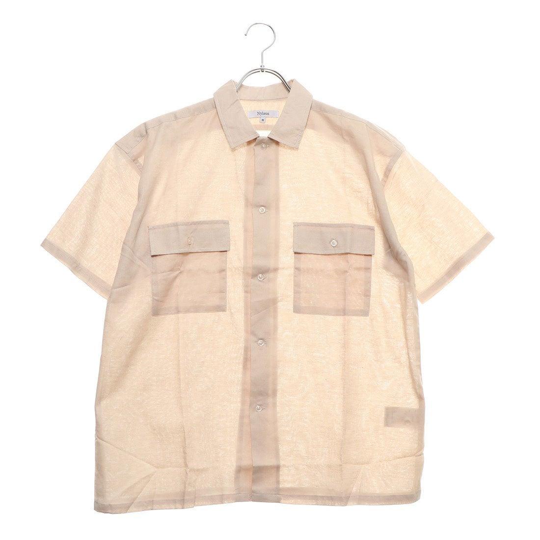 ロコンド 靴とファッションの通販サイトスタイルブロック STYLEBLOCK 綿麻ストレッチビッグワークシャツ (ベージュ)