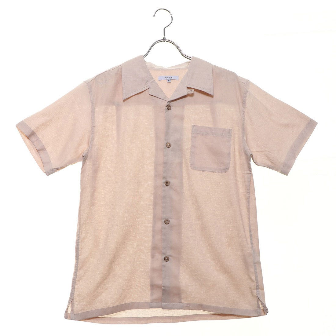 ロコンド 靴とファッションの通販サイトスタイルブロック STYLEBLOCK 綿麻ストレッチオープンカラーシャツ (ベージュ)