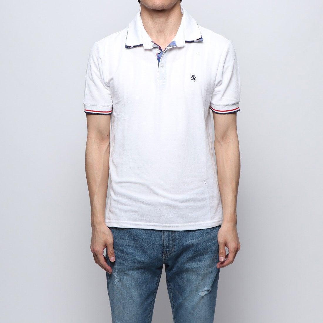 ロコンド 靴とファッションの通販サイトスタイルブロック STYLEBLOCK チェックW衿鹿の子ドライポロシャツ (ホワイト)