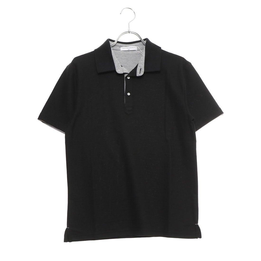 ロコンド 靴とファッションの通販サイトスタイルブロック STYLEBLOCK 配色鹿の子ドライポロシャツ (ブラック)