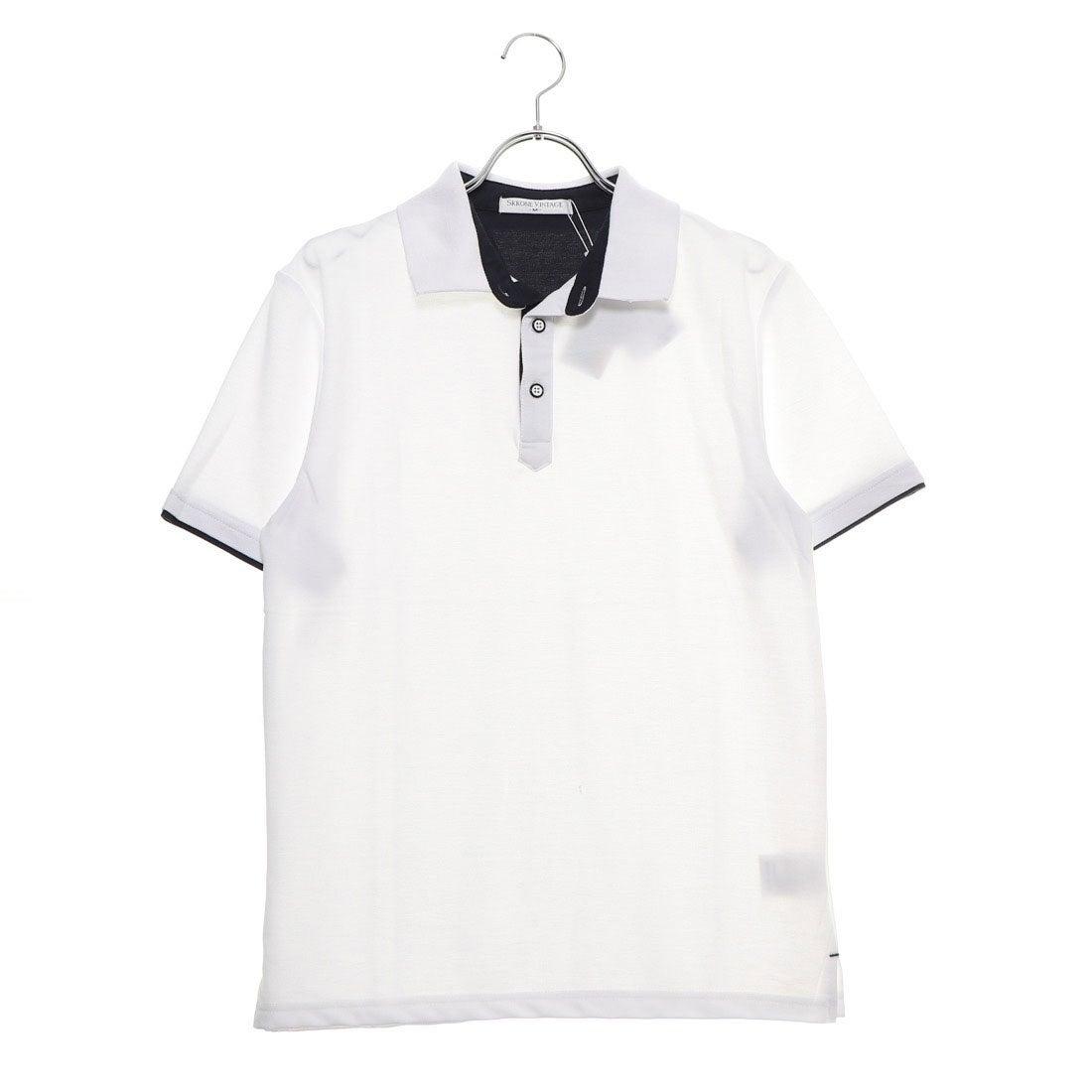 ロコンド 靴とファッションの通販サイトスタイルブロック STYLEBLOCK 配色鹿の子ドライポロシャツ (ホワイト)