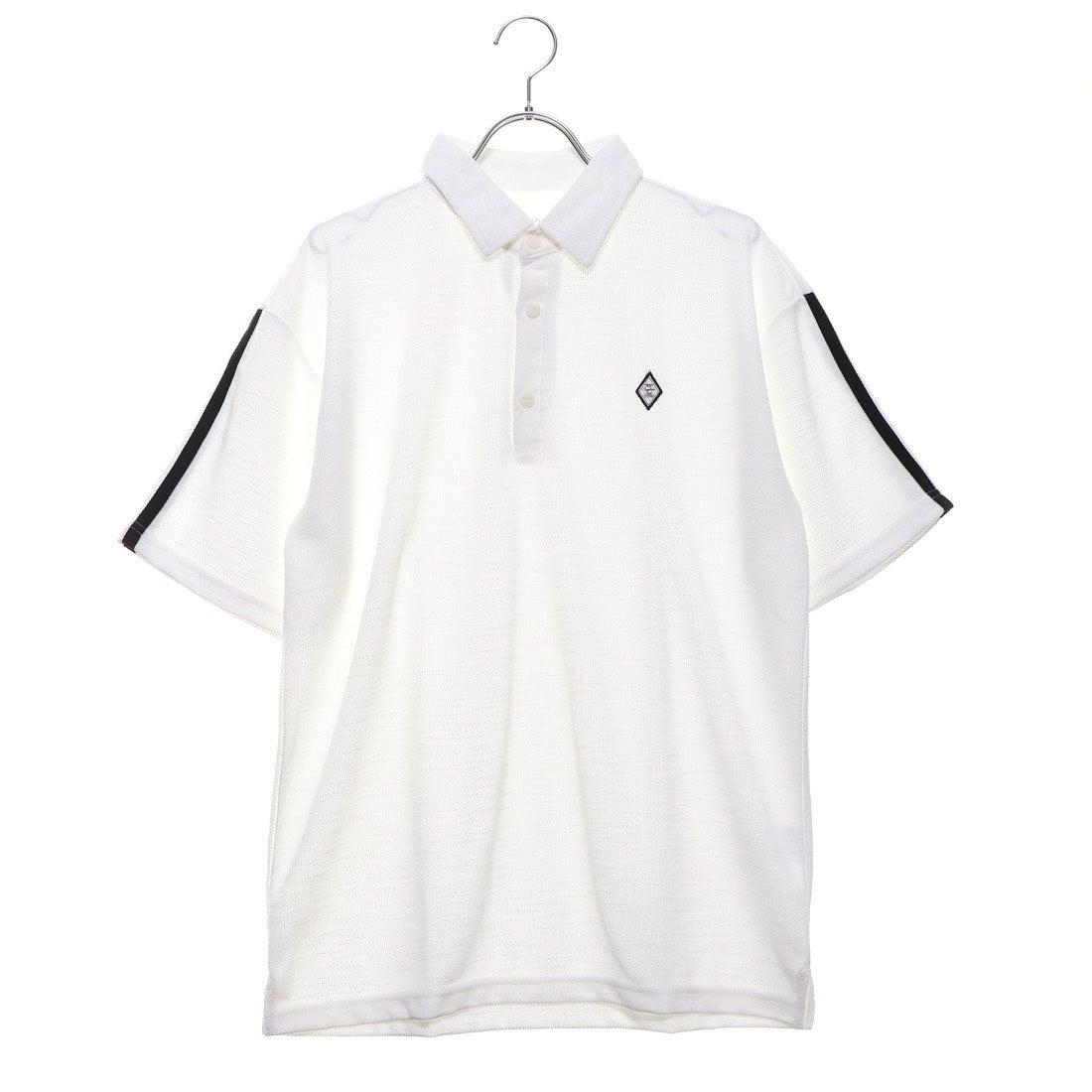 ロコンド 靴とファッションの通販サイトスタイルブロック STYLEBLOCK ドライMIXスラブカノコライン入り3Bポロシャツ (ホワイトB)