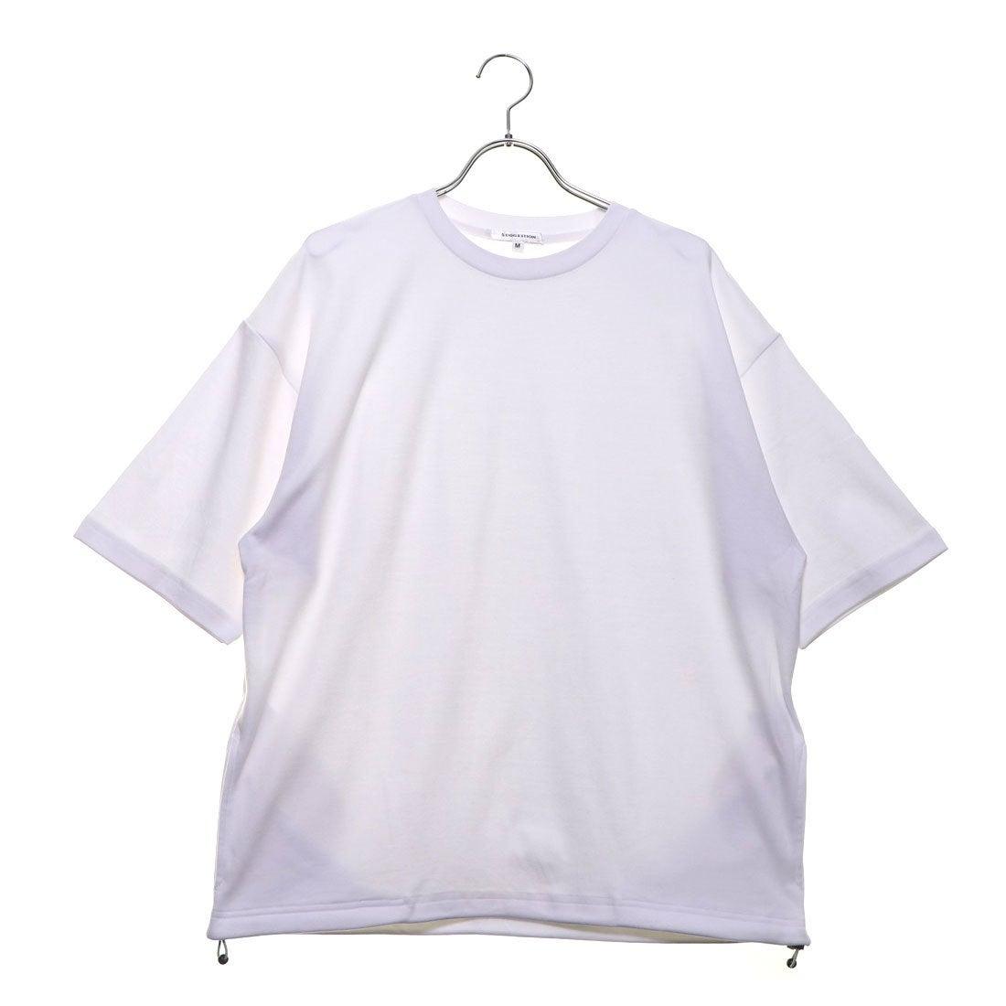 ロコンド 靴とファッションの通販サイトスタイルブロック STYLEBLOCK 裾スピンドル5分袖ビッグTシャツ (オフ)