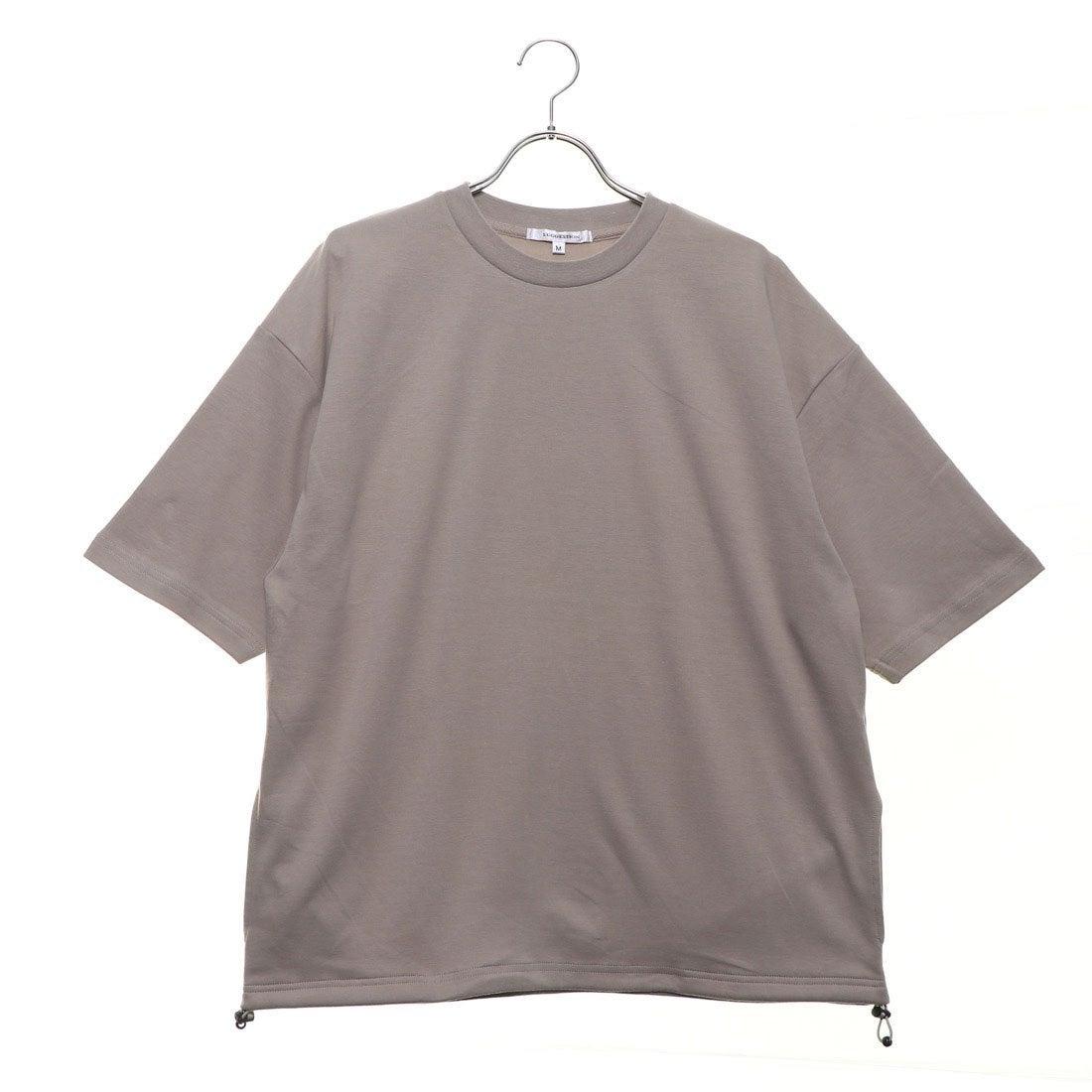 ロコンド 靴とファッションの通販サイトスタイルブロック STYLEBLOCK 裾スピンドル5分袖ビッグTシャツ (ベージュ)