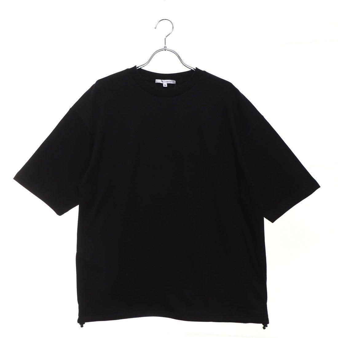 ロコンド 靴とファッションの通販サイトスタイルブロック STYLEBLOCK 裾スピンドル5分袖ビッグTシャツ (ブラック)