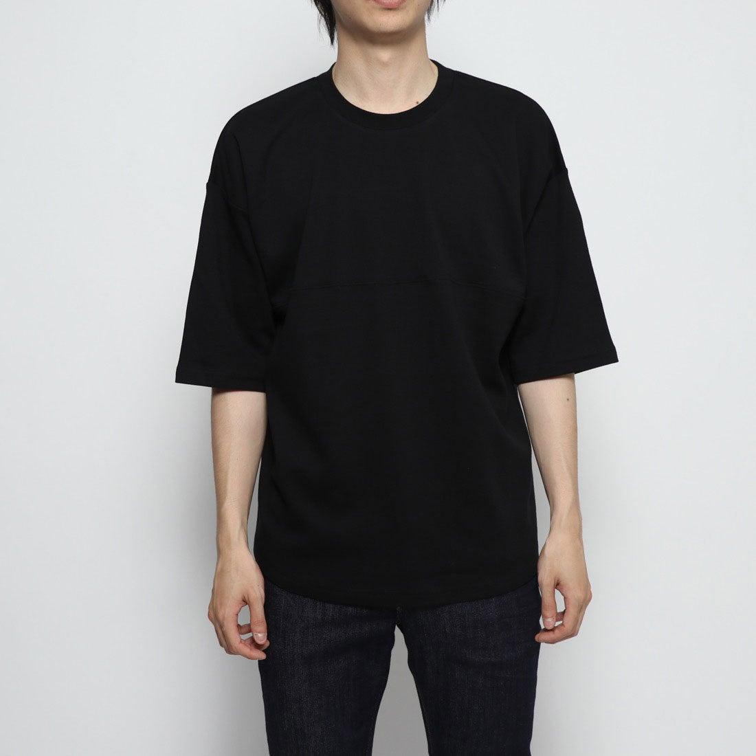 ロコンド 靴とファッションの通販サイトスタイルブロック STYLEBLOCK 綿ポンチ5分袖ビッグTシャツ (ブラック)