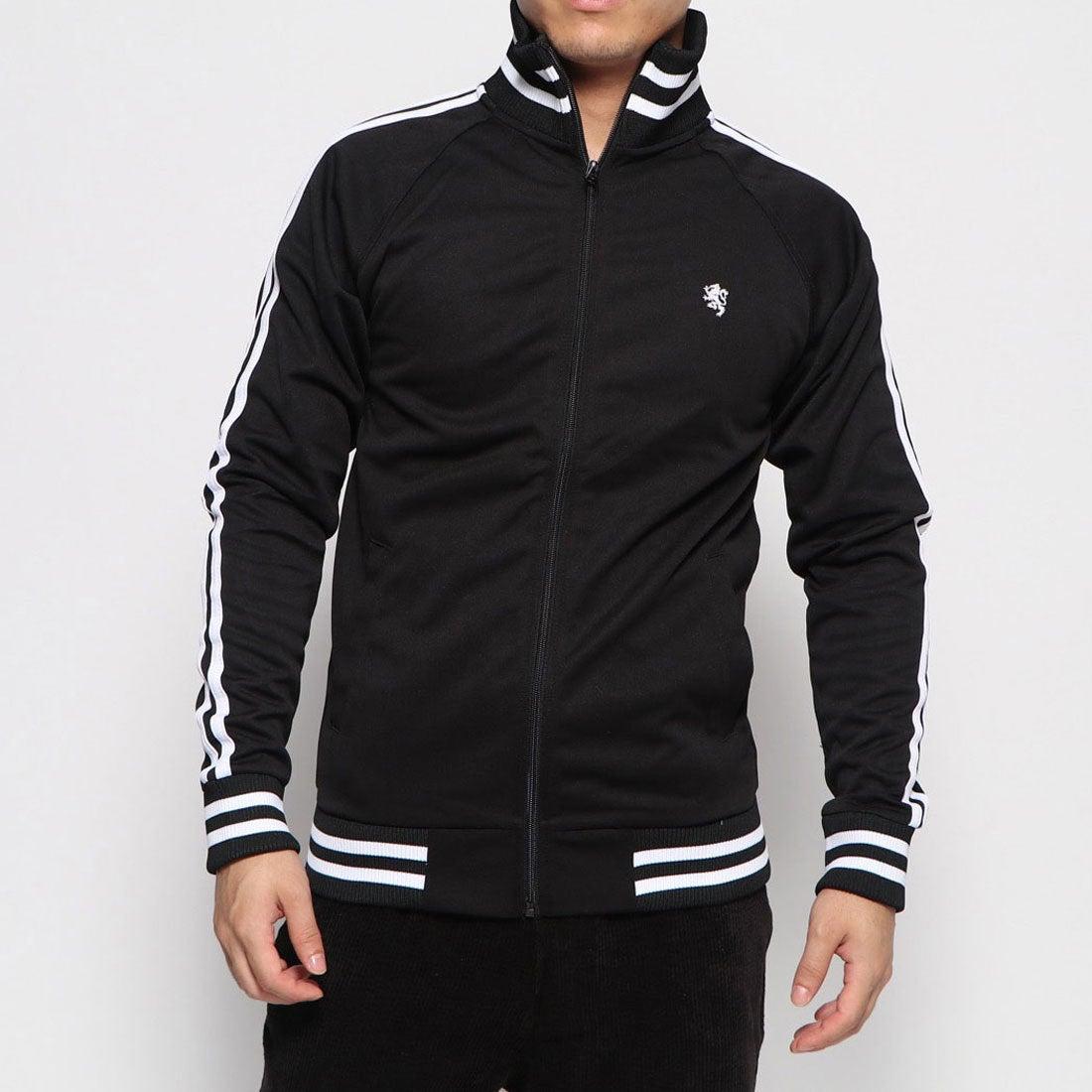 ロコンド 靴とファッションの通販サイトスタイルブロック STYLEBLOCK 2ライントラックジャケット (ブラック×ホワイト)