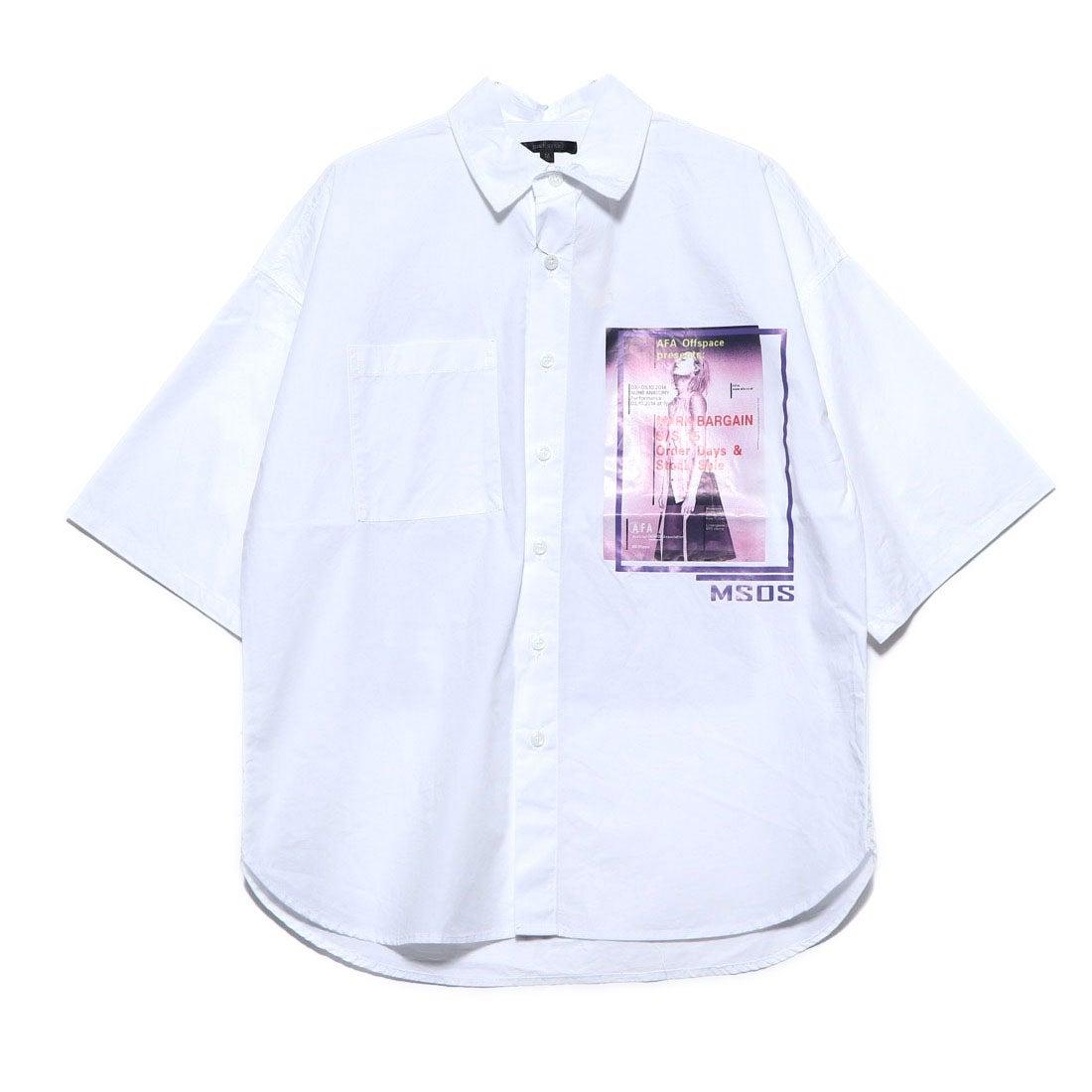 ロコンド 靴とファッションの通販サイトスタイルブロック STYLEBLOCK フォト付きタイプライター半袖ビッグシャツ (ホワイト)