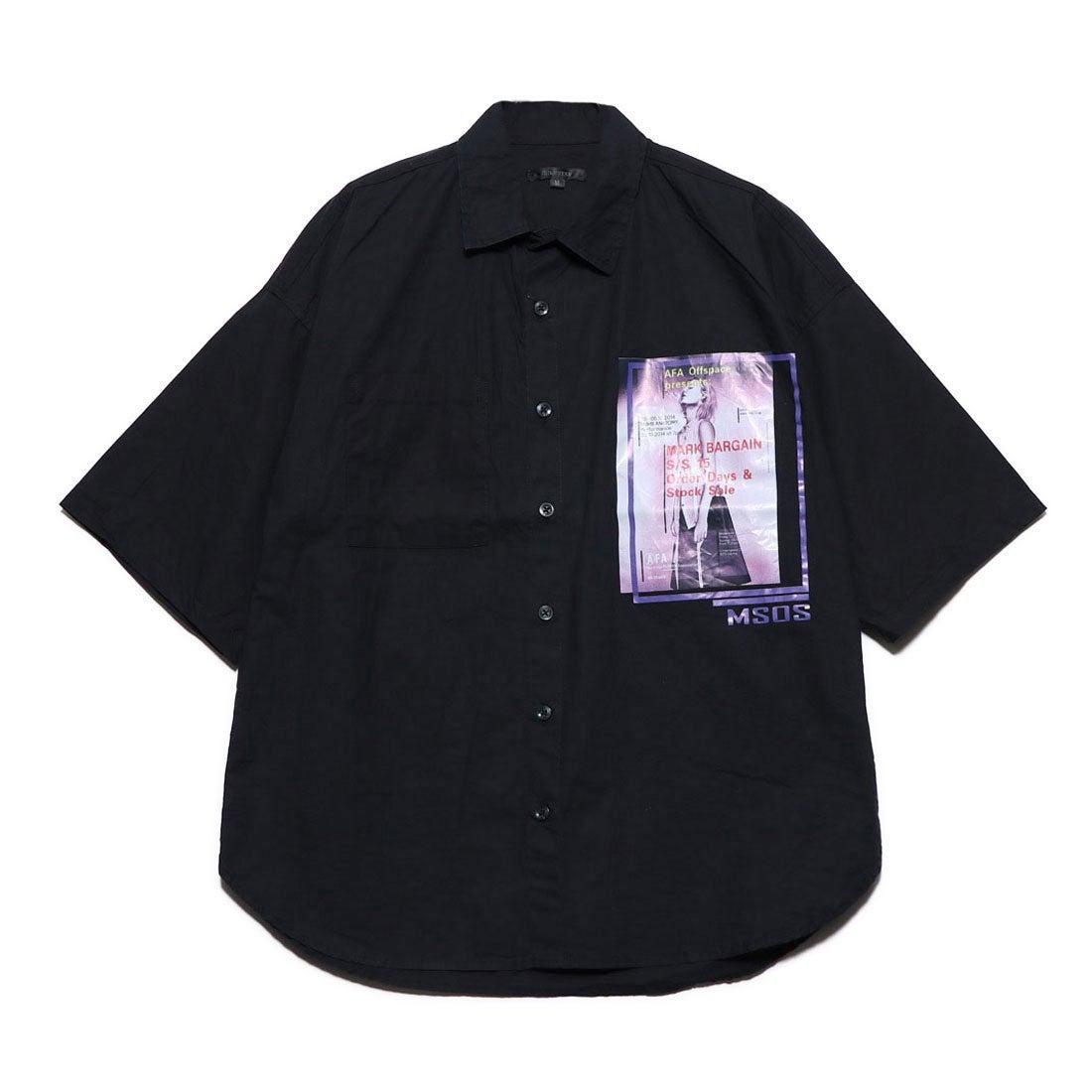 ロコンド 靴とファッションの通販サイトスタイルブロック STYLEBLOCK フォト付きタイプライター半袖ビッグシャツ (ブラック)