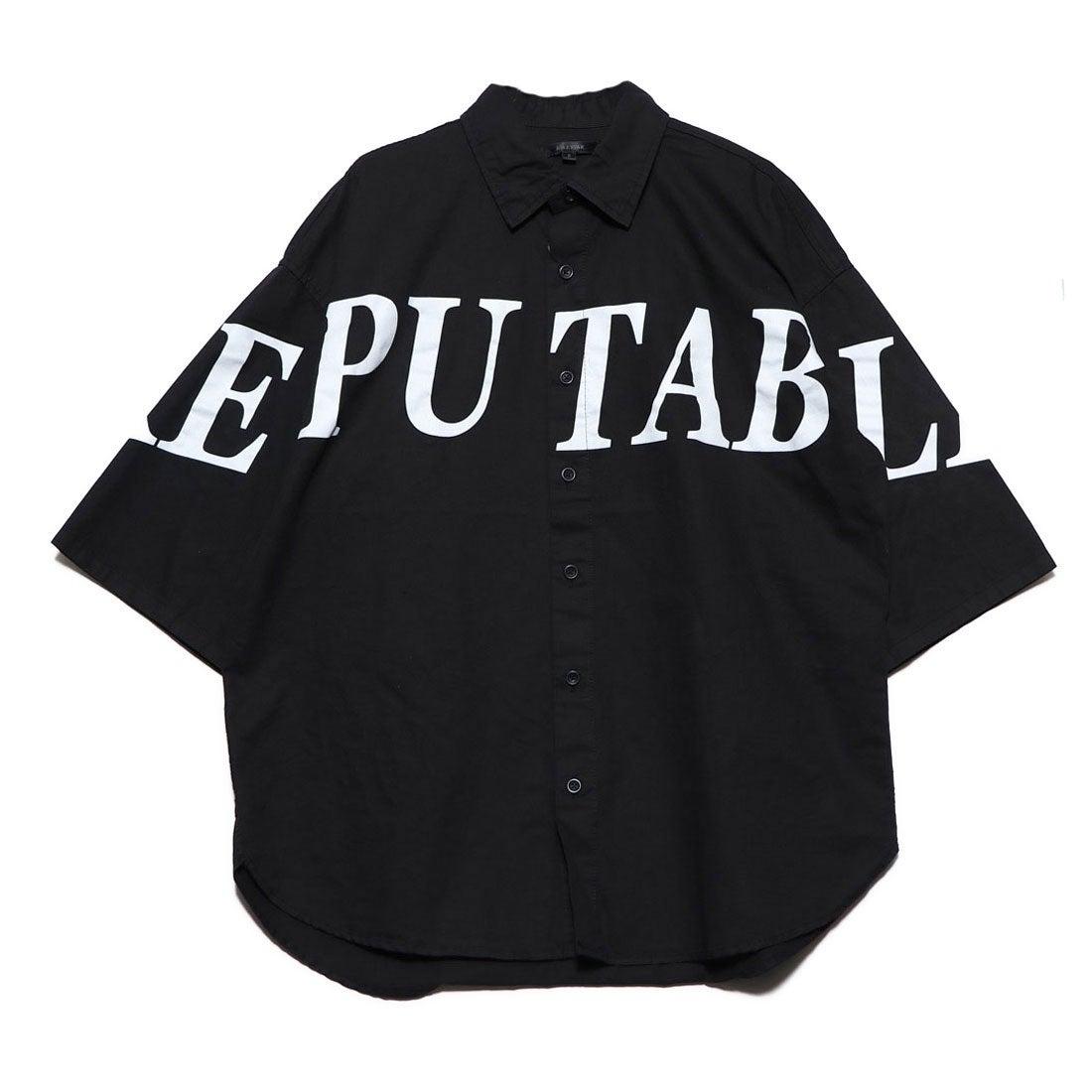 ロコンド 靴とファッションの通販サイトスタイルブロック STYLEBLOCK デコレーション半袖ビッグシャツ (ブラック)