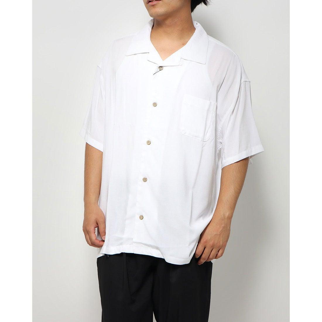 ロコンド 靴とファッションの通販サイトスタイルブロック STYLEBLOCK レーヨンビッグオープンシャツ (ホワイト)