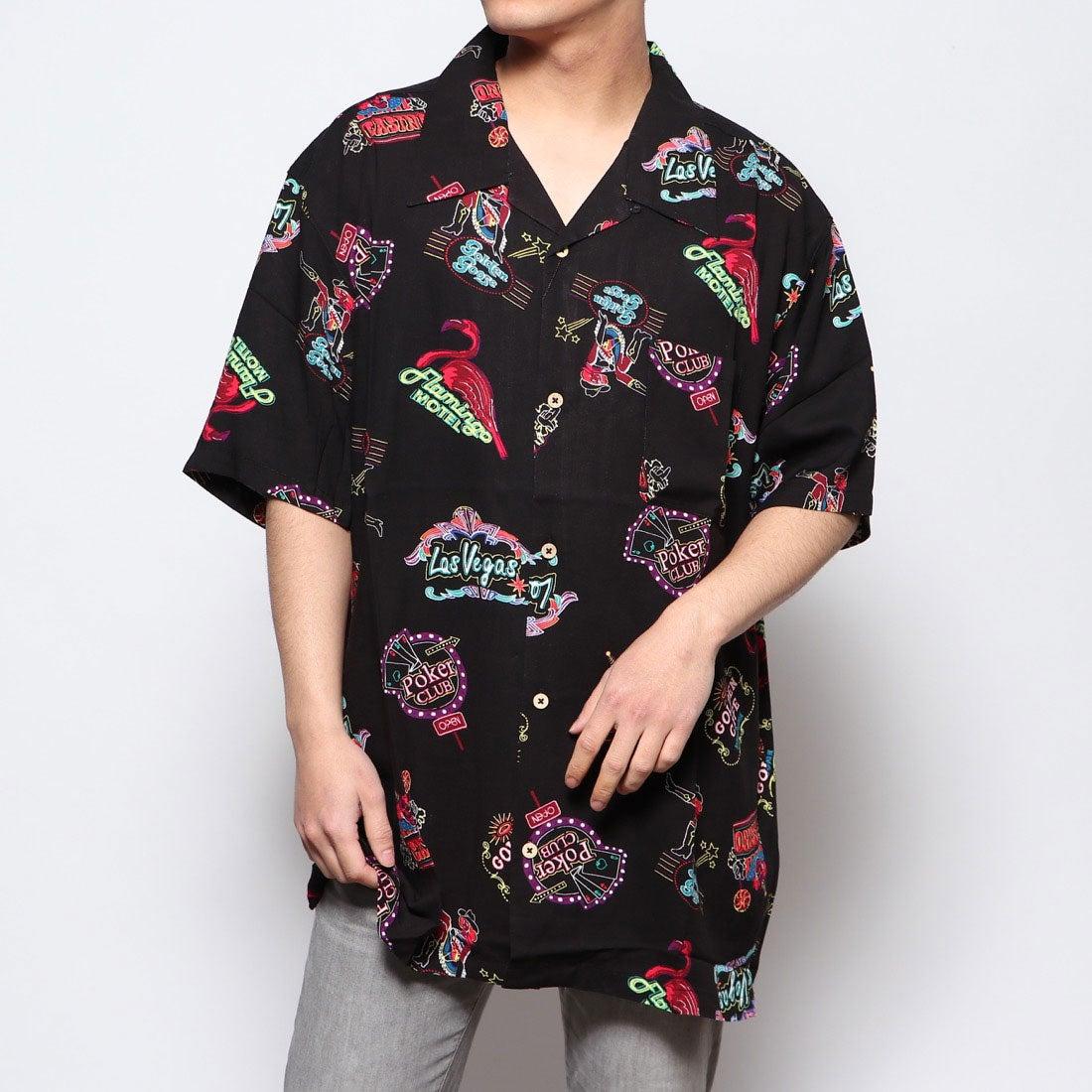 ロコンド 靴とファッションの通販サイトスタイルブロック STYLEBLOCK KINGレーヨンアロハシャツ (Eブラック)
