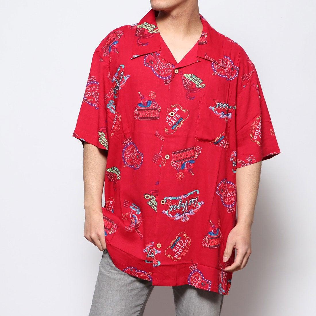 ロコンド 靴とファッションの通販サイトスタイルブロック STYLEBLOCK KINGレーヨンアロハシャツ (Eレッド)