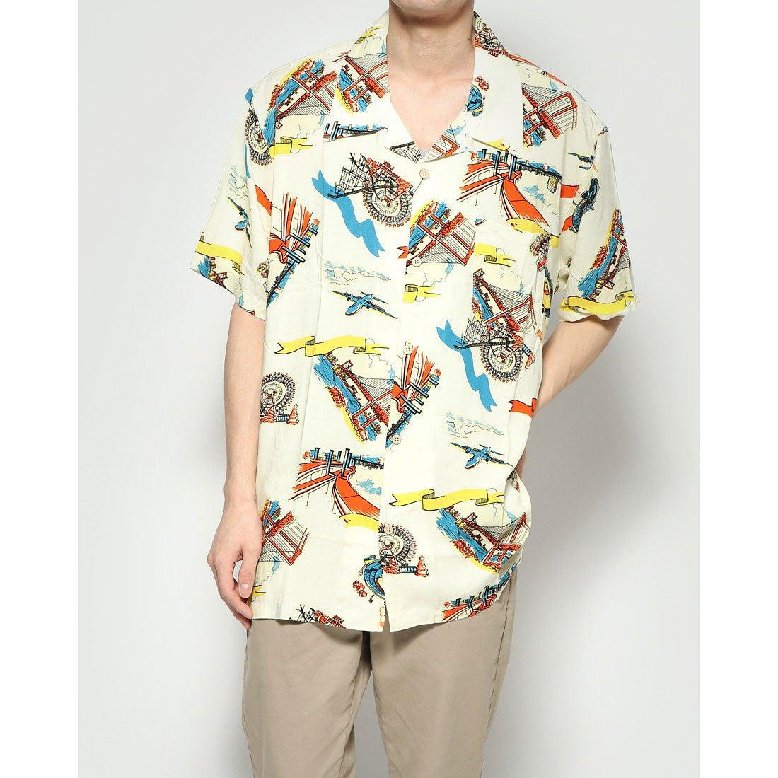 ロコンド 靴とファッションの通販サイトスタイルブロック STYLEBLOCK KINGレーヨンアロハシャツ (Hホワイト)