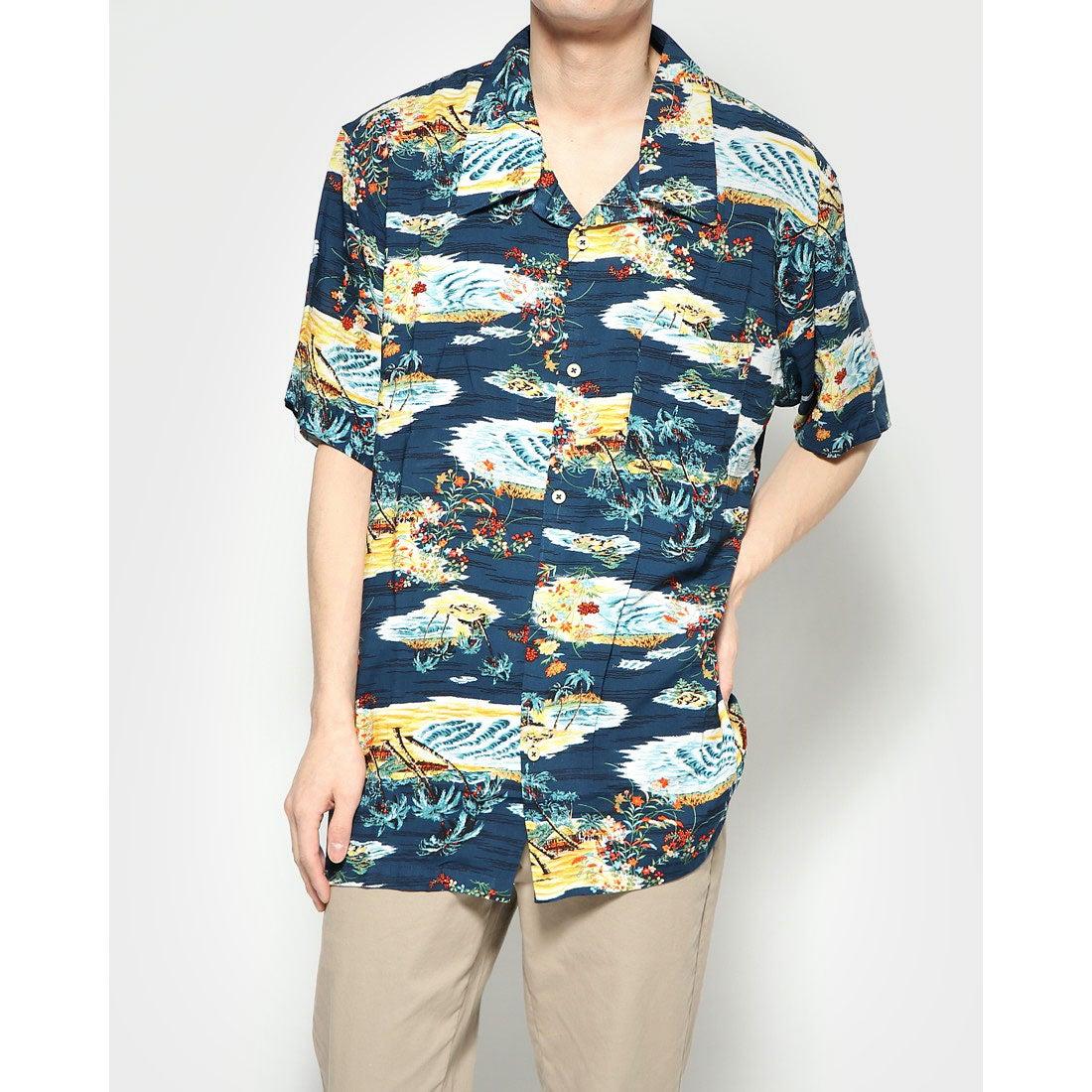 ロコンド 靴とファッションの通販サイトスタイルブロック STYLEBLOCK KINGレーヨンアロハシャツ (Kネイビー)