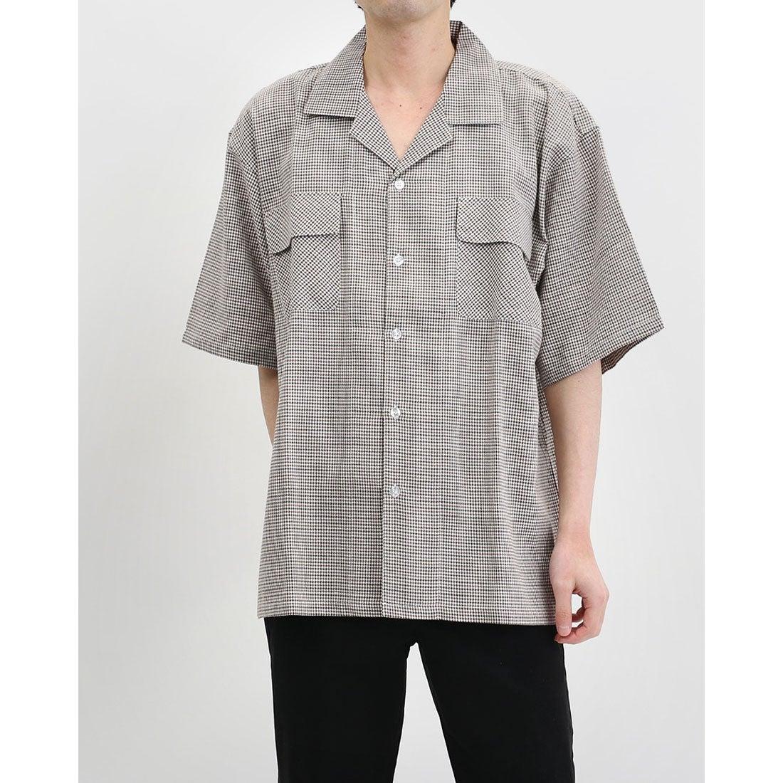 ロコンド 靴とファッションの通販サイトスタイルブロック STYLEBLOCK 綿麻チェック半袖ワークシャツ (Bホワイト)