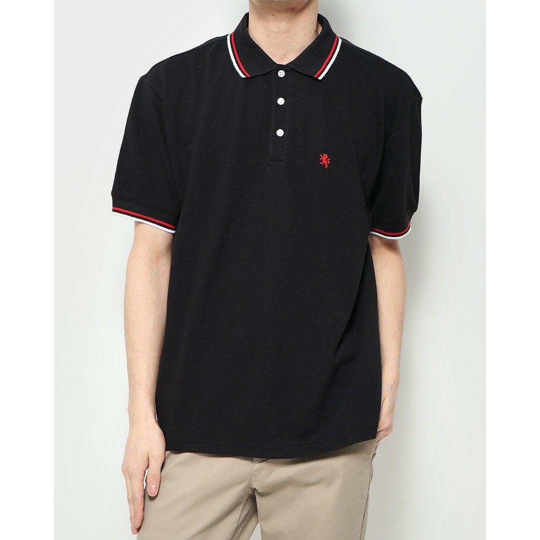 ロコンド 靴とファッションの通販サイトスタイルブロック STYLEBLOCK 袖ライン入りBIGポロシャツ (ブラック)