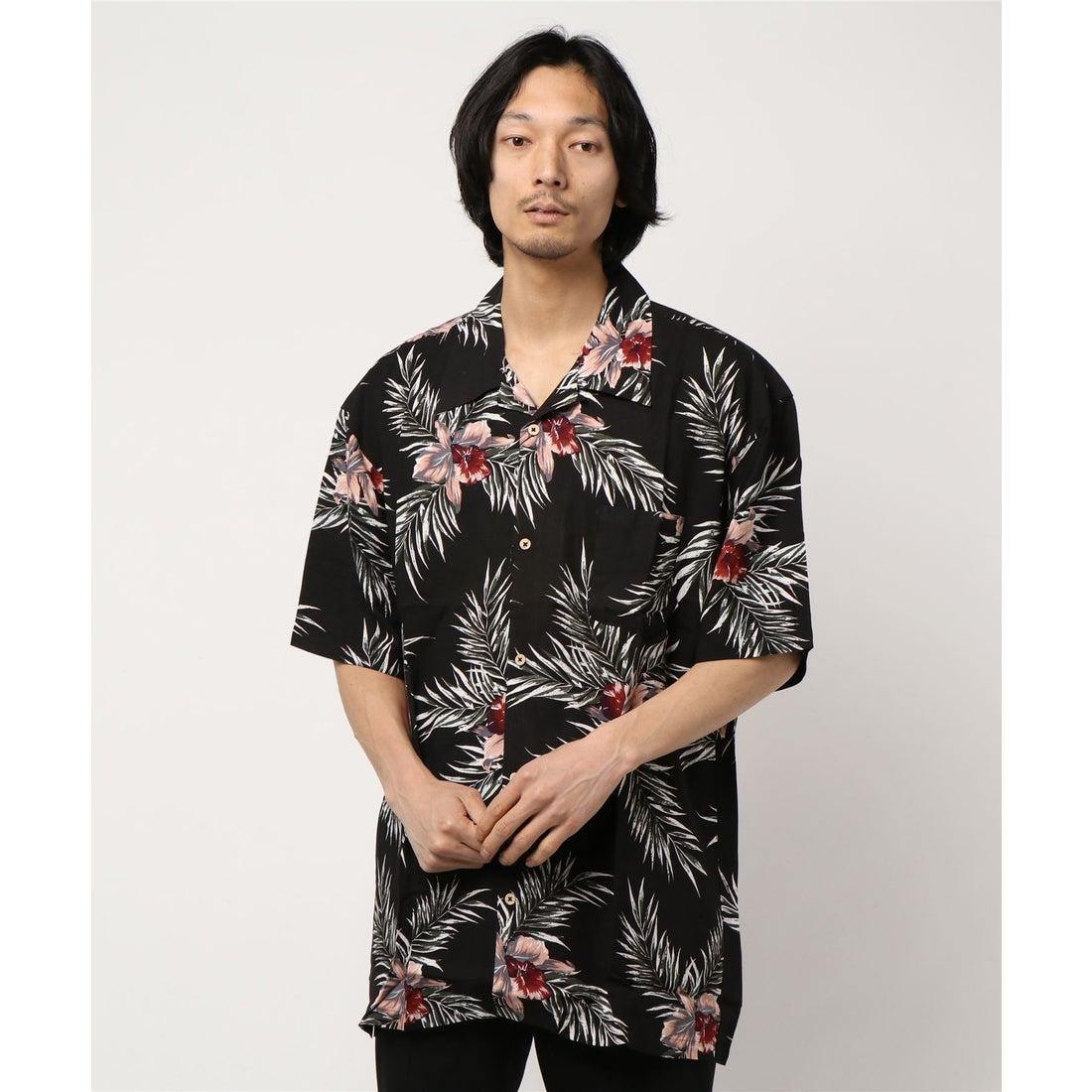 ロコンド 靴とファッションの通販サイトスタイルブロック STYLEBLOCK レーヨンアロハシャツ (Aブラック)