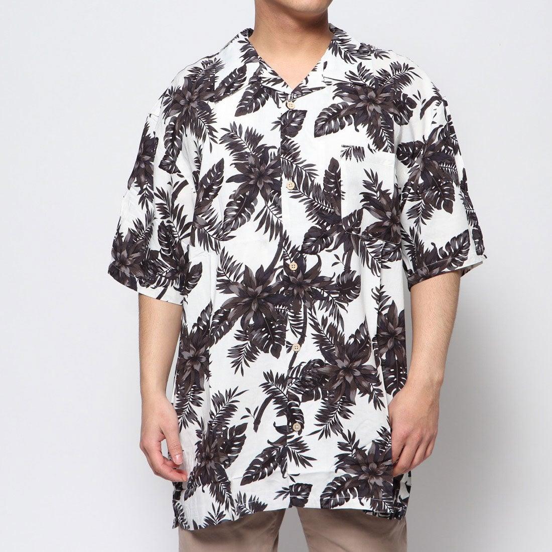 ロコンド 靴とファッションの通販サイトスタイルブロック STYLEBLOCK レーヨンアロハシャツ (Dホワイト)